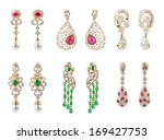 Pairs Of Earrings With Diamond...