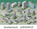 isometric building city palace... | Shutterstock . vector #169434413