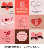 happy valentines day cards.... | Shutterstock .eps vector #169435877