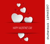 valentine card with hearts... | Shutterstock .eps vector #169445597