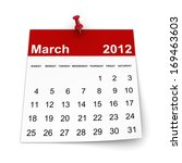 calendar 2014   march | Shutterstock . vector #169463603