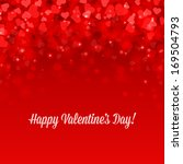 happy valentine's day card... | Shutterstock .eps vector #169504793