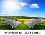 solar energy panels against...