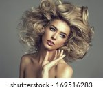 beautiful blond woman with... | Shutterstock . vector #169516283