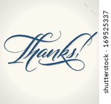 thanks hand lettering    custom ... | Shutterstock .eps vector #169525337