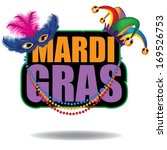 Mardi Gras icon. EPS 10 vector, grouped for easy editing. No open shapes or paths. - stock vector