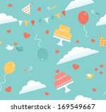 seamless pattern of wedding... | Shutterstock .eps vector #169549667