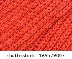 Red Knitted Merino Wool...