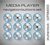 set of light media control... | Shutterstock .eps vector #169586003