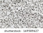 crushed white stone background | Shutterstock . vector #169589627