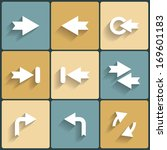 arrow sign icon set. raster...
