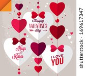 valentine's day background with ... | Shutterstock .eps vector #169617347