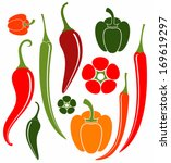 Red And Green Pepper. Chili...