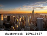 colorful sunset over the... | Shutterstock . vector #169619687