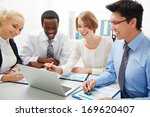group of business people having ... | Shutterstock . vector #169620407