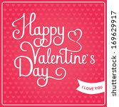 happy valentines day card  | Shutterstock .eps vector #169629917