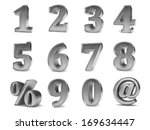 3d metallic set of numbers from ... | Shutterstock . vector #169634447