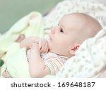 newborn baby closeup | Shutterstock . vector #169648187