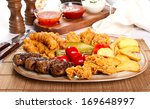 Mixed Grilled And Fried  Meat...
