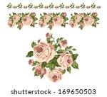 seamless straight roses pattern ... | Shutterstock .eps vector #169650503