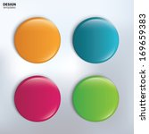 four colorful glossy badge.... | Shutterstock .eps vector #169659383