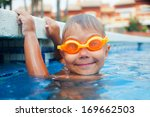 activities on the pool. cute... | Shutterstock . vector #169662503