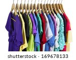 short sleeve female clothes on... | Shutterstock . vector #169678133