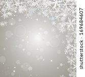 abstract  winter ligth... | Shutterstock . vector #169684607