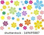 retro flowers | Shutterstock . vector #169695887