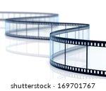 3d render of film strip on... | Shutterstock . vector #169701767