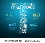 application icons alphabet... | Shutterstock .eps vector #169708187