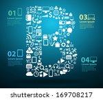 application icons alphabet...   Shutterstock .eps vector #169708217
