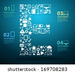 application icons alphabet... | Shutterstock .eps vector #169708283