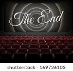 movie ending screen in old...   Shutterstock . vector #169726103