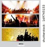 music banners set. vector | Shutterstock .eps vector #169745153