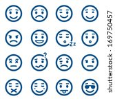 Set Of Vector Smiley Icons....