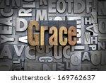 grace written in vintage... | Shutterstock . vector #169762637