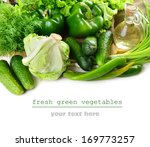 fresh green vegetables on white ... | Shutterstock . vector #169773257