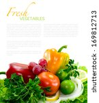 fresh healthy vegetables on... | Shutterstock . vector #169812713