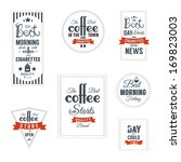 coffee label template design | Shutterstock .eps vector #169823003