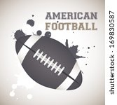 american football design over... | Shutterstock .eps vector #169830587