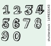 numeral freehand vector | Shutterstock .eps vector #169833143