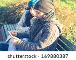couple in love using tablet at... | Shutterstock . vector #169880387