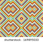 seamless colorful aztec pattern | Shutterstock .eps vector #169895033