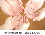 muslim praying hands on light... | Shutterstock . vector #169912703