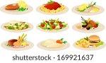 vector illustration of various... | Shutterstock .eps vector #169921637