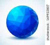 blue geometric ball. vector...   Shutterstock .eps vector #169922807
