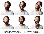 bearded man collage  6... | Shutterstock . vector #169947803