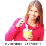 pretty happy young pretty... | Shutterstock . vector #169965947