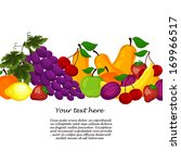 gift from fruit decorated with... | Shutterstock . vector #169966517